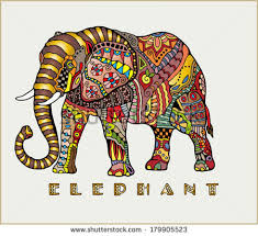 decorated indian elephant stock images royalty free images