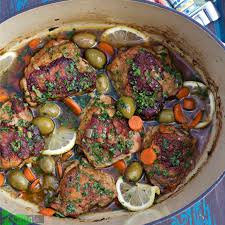 chicken and olives recipe braised in lodge cast iron dutch oven