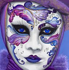 carnival masks purple carnival mask painting by patty vicknair