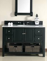 48 Inch Bathroom Vanity White Abstron 48 Inch Black Finish Single Sink Transitional Bathroom