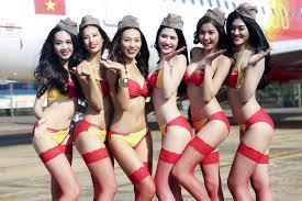 racy photos of scantily clad vietair flight attendants stir