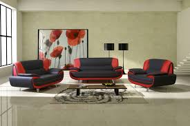 Modern Black Sofa Set Sofas Center Red Sofat Modern Fabricts Arrangements Leather On