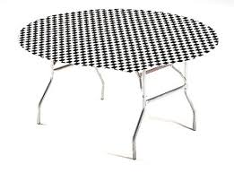 stay put table covers amazon com creative converting round stay put plastic table cover
