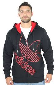 red adidas originals color block fz men u0027s hooded sweatshirt click