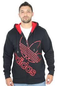 red adidas originals color block fz men u0027s hooded sweatshirt click