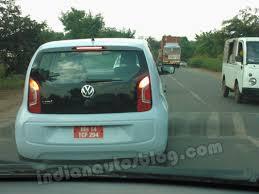 volkswagen up 5 door spied vw up 5 door spotted again near pune