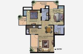 floor plans 1000 sq ft supertech livingston 2bhk floor plan 1000 sqft
