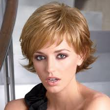 pictures of short layered hairstyles that flip out short wavy layers with spirited flipped up ends hair