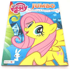 my little pony fluttershy jumbo coloring and activity book new