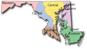 maryland map capital list of parks located in maryland