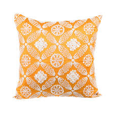 buy zevar orange tango mother of pearl silk cushion cover 16