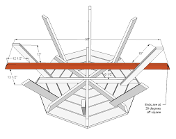 Folding Picnic Table Plans Pdf by Ana White Octagon Picnic Table Diy Projects
