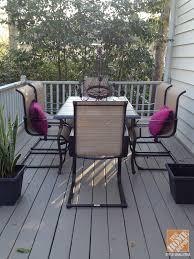 Belleville Patio Furniture Patio Decor Ideas A Modern Family Friendly Deck The Home Depot