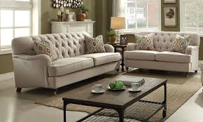 Sofas And Loveseats Sets by Alianza Beige Fabric 2pc Button Tufted Sofa Loveseat Set W 4