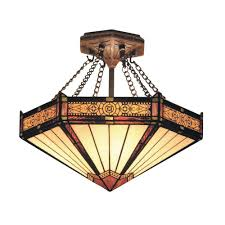 titan lighting elizabethan 3 light dark bronze ceiling semi flush