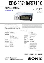 sony cdx f5710 wiring diagram sony wiring diagrams collection