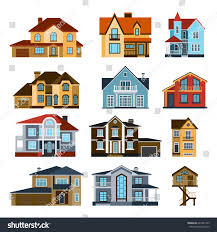 houses front view vector illustration building stock vector