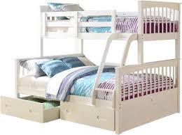Brighton SingleDouble Bunk Bed  White Or Oak Bambino Home - Single double bunk beds