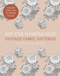 amazon com art for mindfulness vintage fabric patterns art for