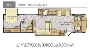Fleetwood 5th Wheel Floor Plans 2017 Fleetwood Rv Bounder 36y For Sale In Tampa Fl Lazydays