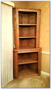 Walnut Corner Bookcase Corner Ladder Display Bookcase Sohoshorts Me