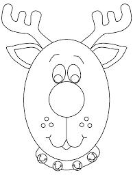 printable reindeerhead christmas coloring pages coloringpagebook com
