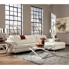 gunter brilliant white sectional set signature design furniture cart