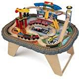 train and track table amazon com step2 deluxe canyon road train track table toys games