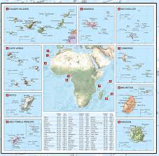 Canary Islands Map Continental Series Africa Wall Map Xyz Maps