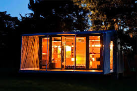 best container homes design with transparent glass wall ideas and