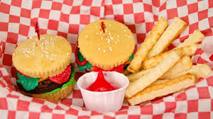 thanksgiving mini cupcakes hamburger cupcakes and french fries from cookies cupcakes and