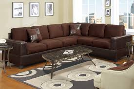 Suede Sectional Sofas Chocolate Microfiber Sectional Sofa F7631 Lowest Price Sofa