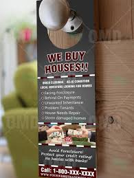 we buy houses door hanger u2013 real estate lead generator
