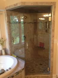 charlotte nc bathroom remodel with glass shower corner shower