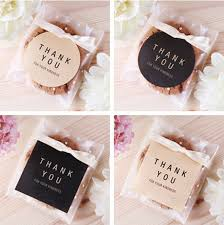 200 vintage thank you gift decor stickers bakery cookie