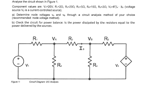 node voltage analysis on circuit with a dependant voltage source