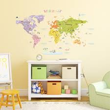 the world map wall stickers 1306n