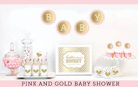 baby girl themes for baby shower pink and gold baby shower decor unique baby shower ideas