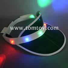 summer favor led light up sun visor hats buy visor hat with