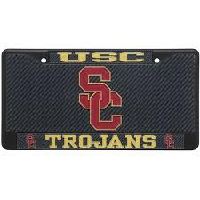usc alumni license plate usc trojans black carbon fiber license plate frame set license