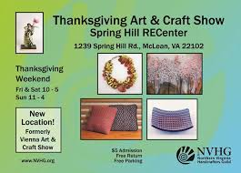 33rd annual thanksgiving and craft show set fairfax county