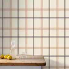 graham u0026 brown plaid wallpaper 20 538 the home depot