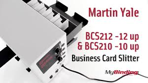 yale business card martin yale bcs212 bcs210 tabletop business card slitter