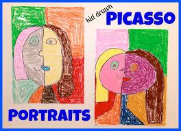 mom to 2 posh lil divas kids picasso style portrait art kids get