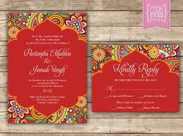 marriage invitation 6 india inspired wedding invitation cards from etsy