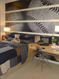 Baseball Bed Frame Baseball Bedroom For Boys With Large Wall Decor Baseball Theme
