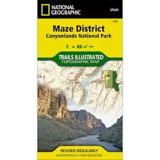 Yosemite Topo Map 312 Maze District Canyonlands National Park Trail Map National