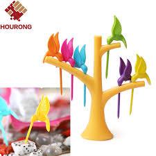 cuisiner le fruit de l arbre à 1 set cuisine gadget oiseau arbre birdie fourchette de fruit 1