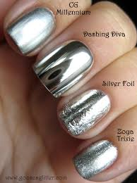 goose u0027s glitter chrome nail comparison