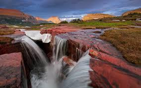 Montana waterfalls images Natural mountain stream waterfall stones rocks triple falls jpg